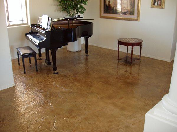 Light Brown, Textured Concrete Floors Miracote Rancho Dominguez, CA