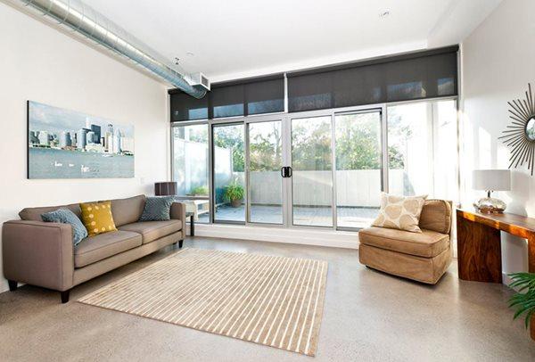 Living Room, Concrete Flooring Concrete Floors Badass Floor Systems Marietta, GA