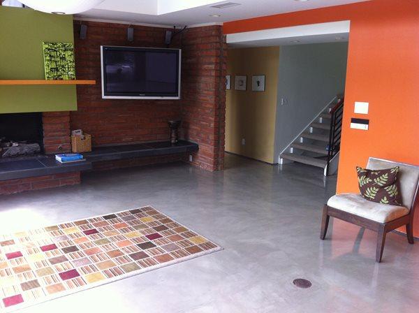 Living Room Floor Coating Concrete Floors Infinity Concrete Coatings Newport Beach, CA
