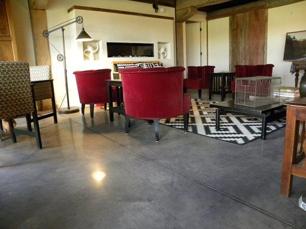 Living Room, Polished, Concrete, Chairs Concrete Floors Romer Decorative Solutions Canton, MI