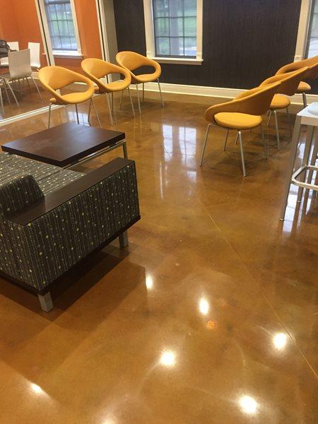 Lobby, Concrete Floor, Brown Concrete Floors The Concrete Yedi Tallahassee, FL
