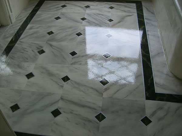 Marble, Black And White Concrete Floors Surface Specialties of NY /  So Clean Blasting Bohemia, NY