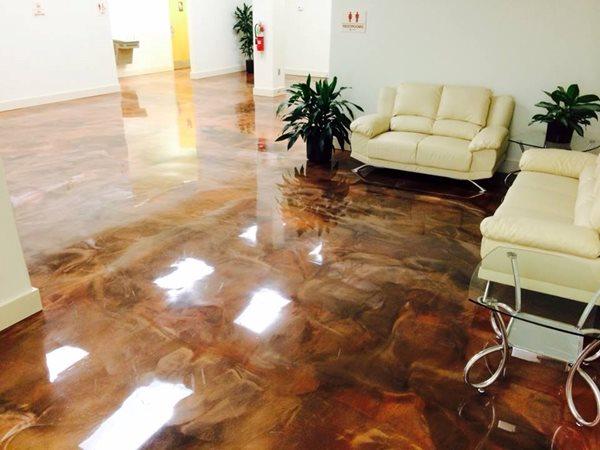 Metallic Epoxy, Metallic Floor Concrete Floors Tri-State Concrete Resurfacing LLC Levittown, PA