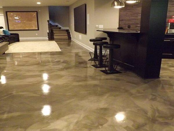 Metallic Floor, Basement Coating Concrete Floors CCI Concrete Clearwater, FL