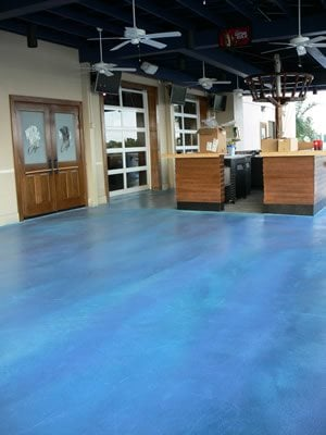 Ocean Blue Concrete Floors SGF Floors Mc Ewen, TN