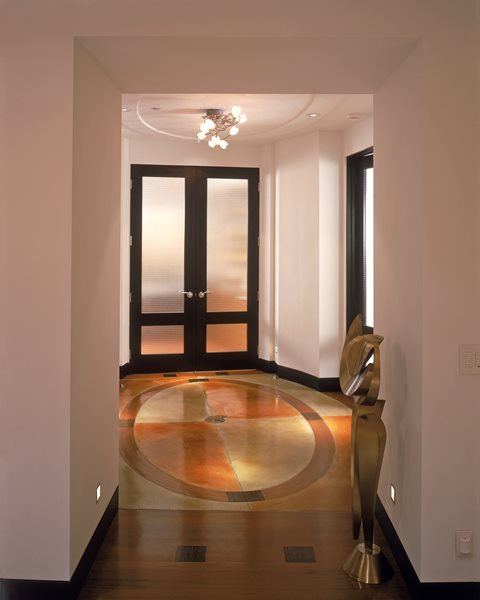 Oval, Caramel Concrete Floors Masterpiece Concrete Compositions Oceanside, CA