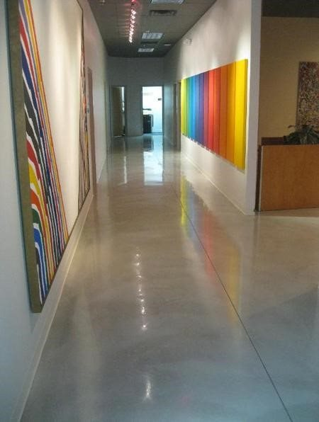 Polished, Artwork, Grey Concrete Floors SBR Concrete Polishing Cleveland, OH