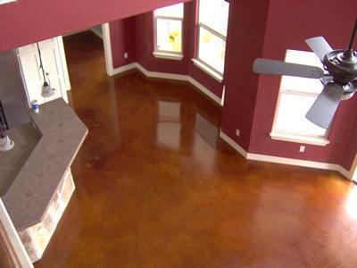 Polished, Cherry Concrete Floors Custom Concrete Solutions Schertz, TX