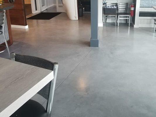 Polished, Grey, Restaurant Concrete Floors Giordano Custom Concrete Inc. Danvers, MA