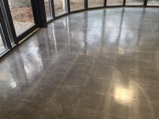 Polished, Tile Removed, Windows Concrete Floors Artistic Flooring Systems Troy, MI