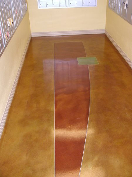 Post Office, Abstract Concrete Floors Surfacing Solutions Inc Temecula, CA