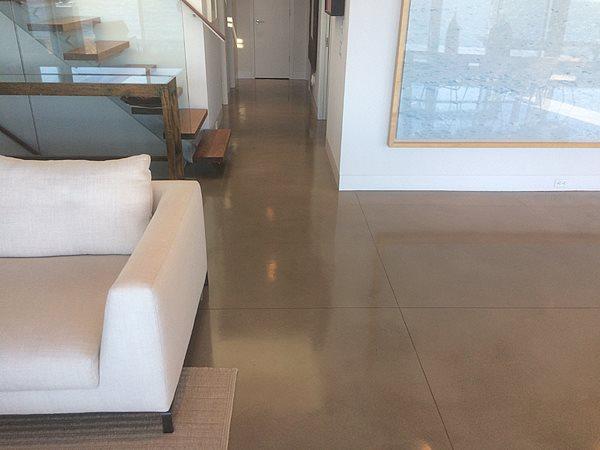 Reflective Floor, Shiny Concrete Concrete Floors Old Stone Restoration & Installation Corp Ridge, NY