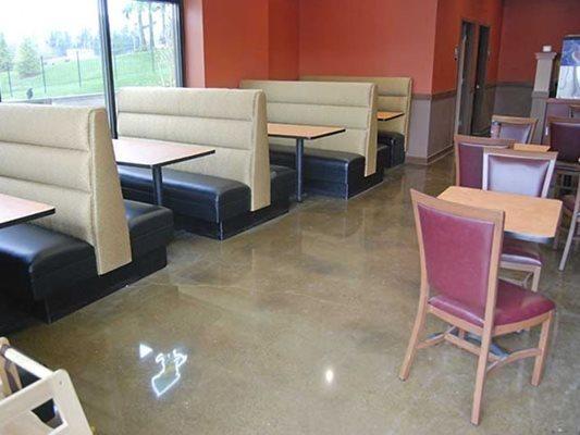 Restaurant, Polished, Concrete Concrete Floors Diamond Polishing Systems Puyallup, WA