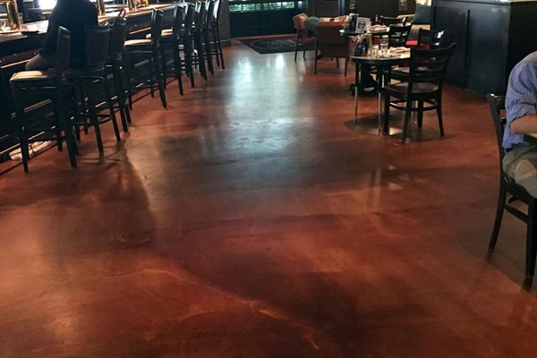 Restaurant, Stained Floors, Chairs Concrete Floors Rockerz, Inc Warrendale, PA