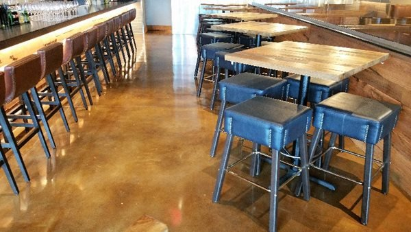 Restaurant, Stained Floors, Tables, Chairs Concrete Floors Raley's Decorative Concrete Specialist Arlington, TX