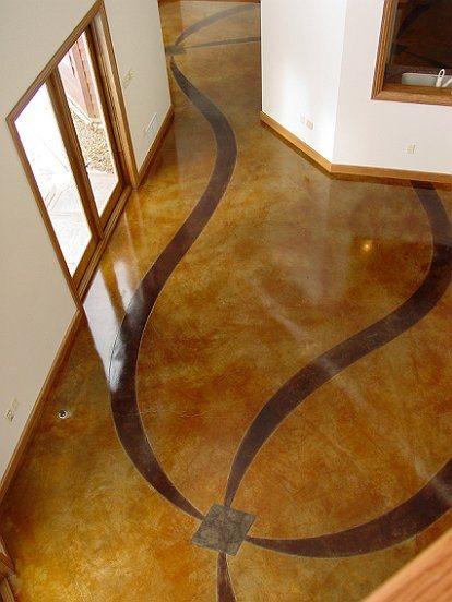 Ribbon Pattern Concrete Floors Cornerstone Concrete Designs Orrville, OH