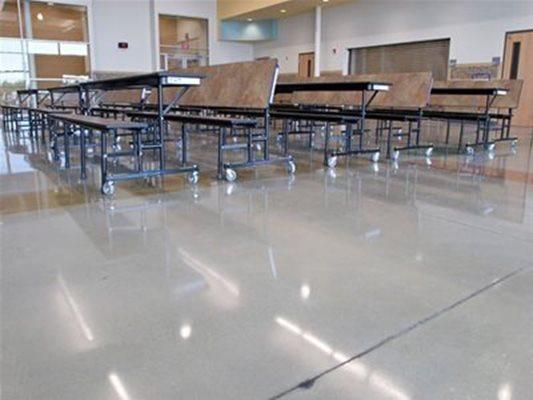 School, Cafeteria Concrete Floors K & J Concrete Polishing Inc Knoxville, TN