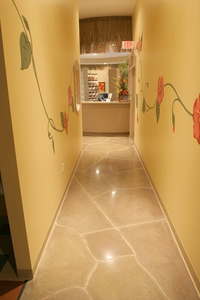 Stain, Grey Concrete Floors Artistic Surfaces Inc Indianapolis, IN
