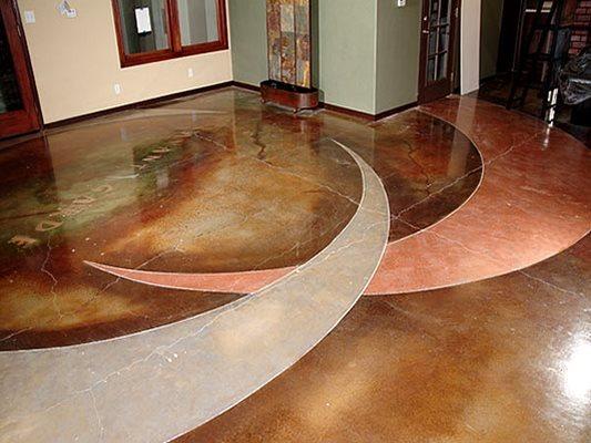 Stained Art, Polished Floor Concrete Floors Pacific Decorative Concrete Inc Sacramento, CA