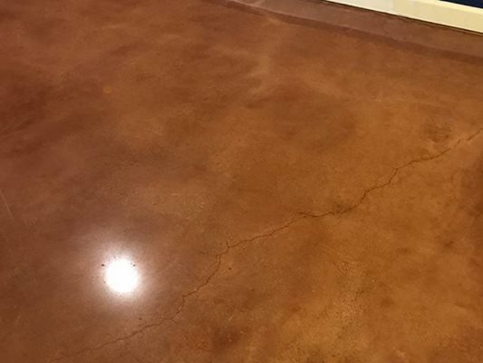 Stained, Brown, Polished Concrete Floors Rose Restoration Fairfax, VA