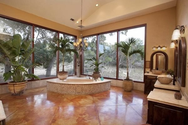 Stained Concrete, Bathroom Floor Concrete Floors Quality Stained Concrete Austin, TX