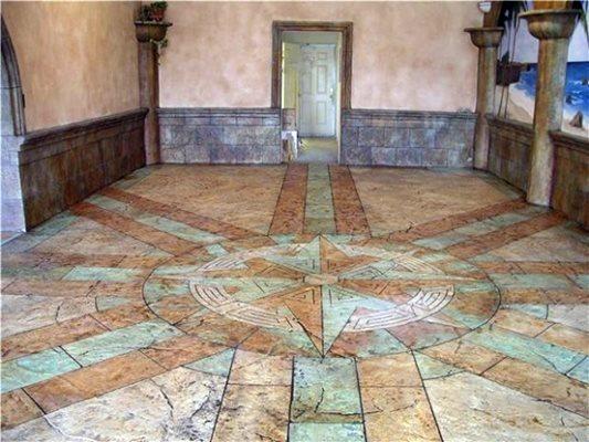 Stained Concrete Floor Concrete Floors Specialty Design Coatings Laguna Niguel, CA