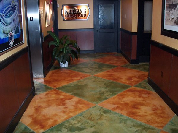 Stained Floor, Colored Floor Concrete Floors Concrete Coatings of Illinois Crest Hill, IL