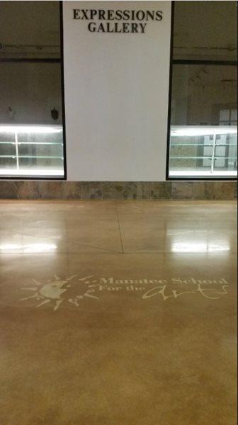 Stencil, Concrete Concrete Floors Open Earth, Inc. Bradenton, FL