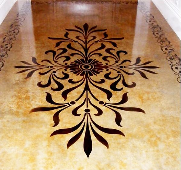 Stencil, Polished, Intricate Concrete Floors Heidelberg Construction, LLC Bethesda, MD