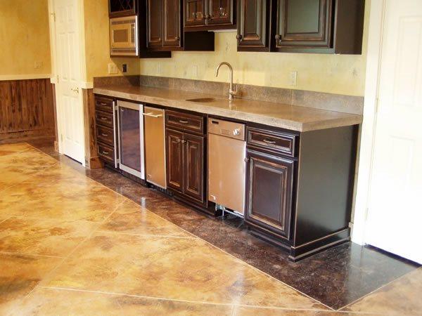 Tan And Brown Concrete Floors Paco Originals Carlisle, PA