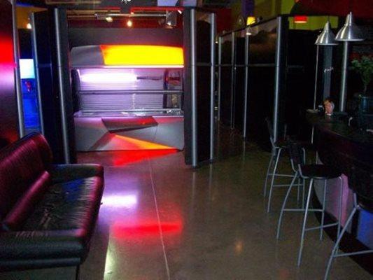 Tanning Salon, Polished, Couch Concrete Floors Concrete Mural Design Langhorne, PA