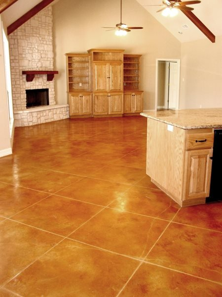 Tiles, Leather Concrete Floors Stained Concrete by Peyton & Associates Montgomery, TX
