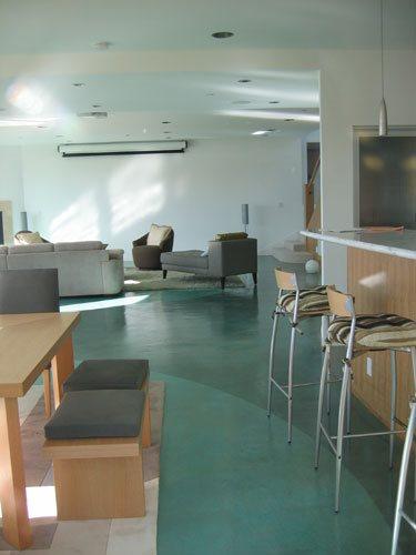 Two Tone, Green Floor Concrete Floors The Concrete Colorist, Inc VALLEJO, CA