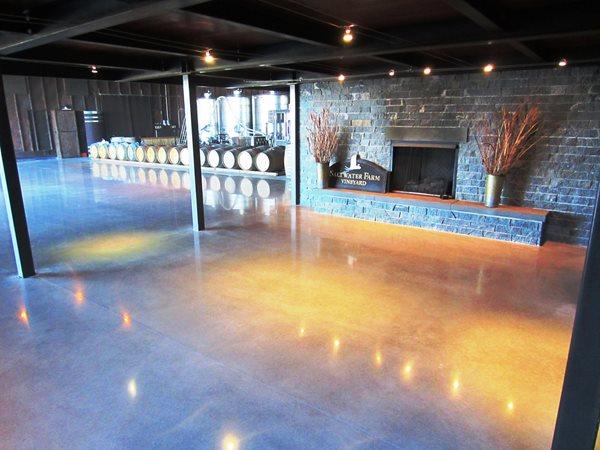 Vineyard Floor, Reflective Concrete Concrete Floors Custom Concrete Solutions, LLC West Hartford, CT