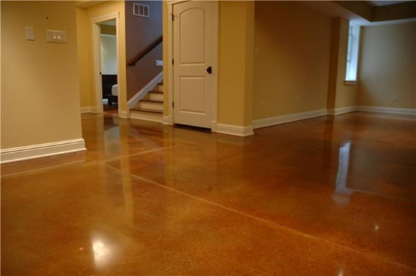 Warm Brown Concrete Floors Artistic Surfaces Inc Indianapolis, IN