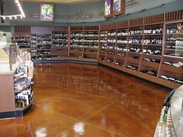Whole Foods Stained Concrete Floor, Diamond Pattern Concrete Floors LA Concrete Works West Hills, CA