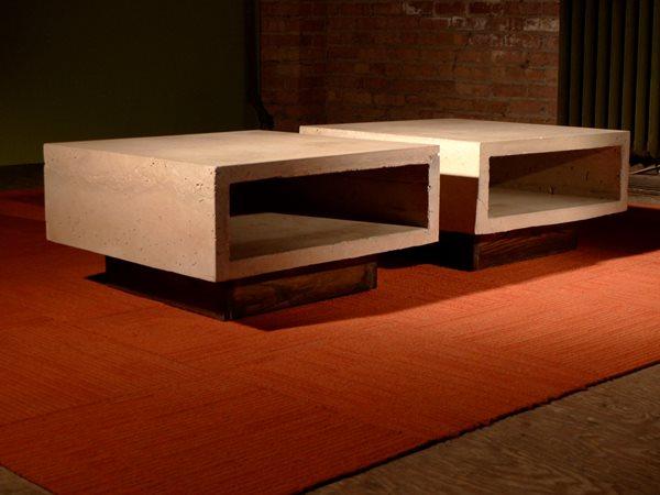 Concrete Ipe Coffee Tables Concrete Furniture Kerr Concrete Evanston, IL