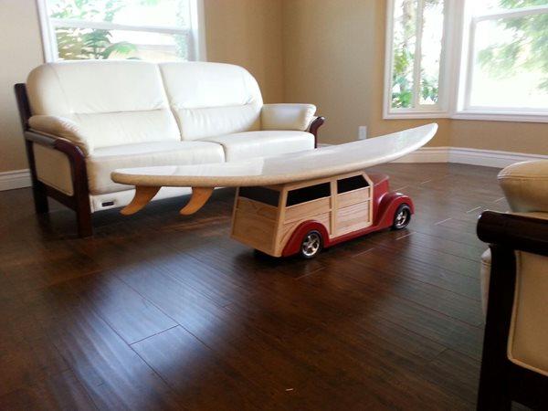 Concrete Surfboard, Coffee Table Concrete Furniture Mudd Studios Anaheim, CA