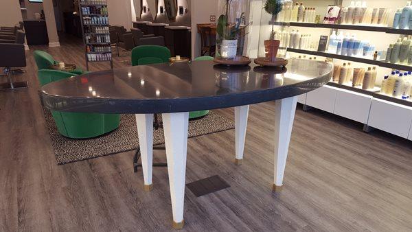 Concrete Table, Salon Concrete Furniture M Concrete Studios LLC Dayton, OH