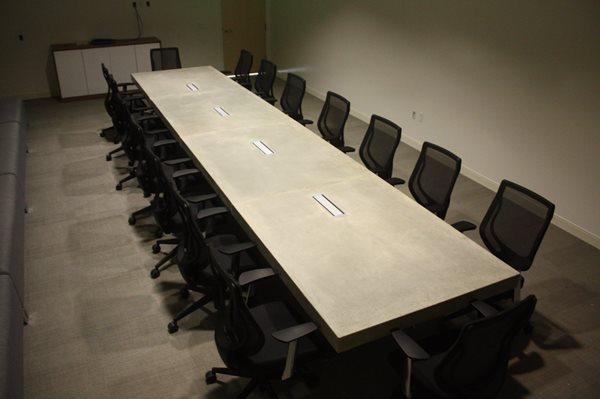 Conference Room Table Concrete Furniture Mudd Studios Anaheim, CA
