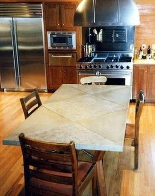 Dining Table, Diamonds Concrete Furniture Buddy Rhodes Concrete Products SF, CA