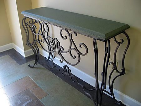 Entry Table, Green Concrete Furniture Solid Designs Greenville, SC
