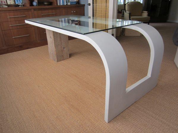 Floating Desk Concrete Furniture Concrete Encounter, LLC Fairfield, CT