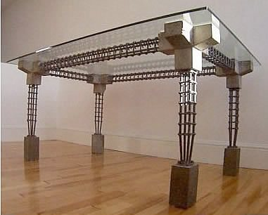Glass, Grey Concrete Furniture Van Sanden Interior Solutions Cawthorne, South Yorkshire