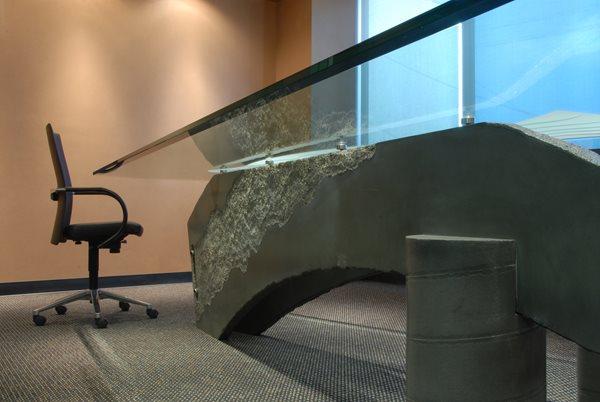 Grey Conference Table, Concrete Conference Table, Office Concrete Concrete Furniture California Concrete Designs Anaheim, CA
