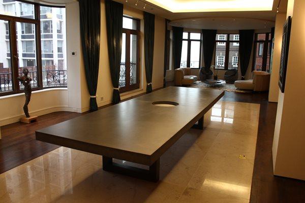Large Concrete Dining Table Concrete Furniture Kerr Concrete Evanston, IL