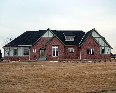 Brick, Green Concrete Homes RP Watkins, Inc. Omaha, NE