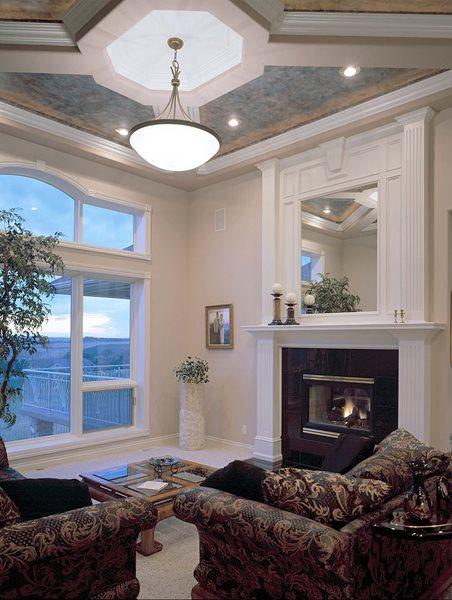 Interior, Fireplace, Ceiling Concrete Homes Fox Blocks Omaha, NE