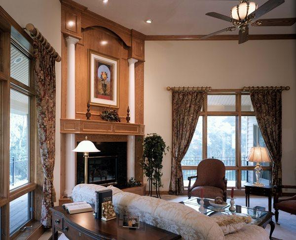 Interior, Fireplace Concrete Homes Fox Blocks Omaha, NE