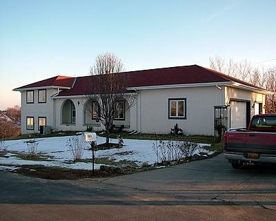 White, Concrete House Concrete Homes RP Watkins, Inc. Omaha, NE